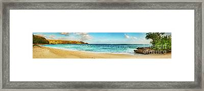 Sandy Tropical Beach. Panorama Framed Print