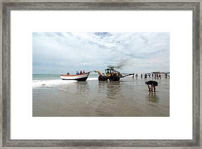Santa Rosa Fishing Village Framed Print