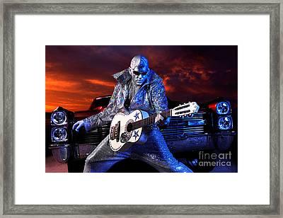 Silver Elvis Framed Print by Oleksiy Maksymenko