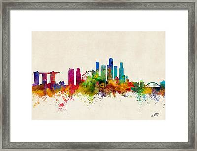 Singapore Skyline Framed Print