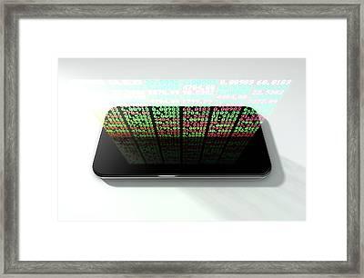 Smart Phone Stock App Framed Print by Allan Swart