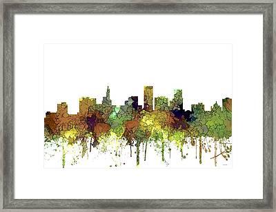 St Paul Minnesota Skyline Framed Print