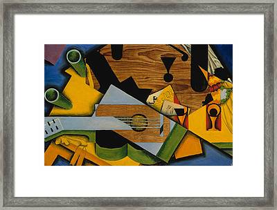 Still Life With A Guitar Framed Print