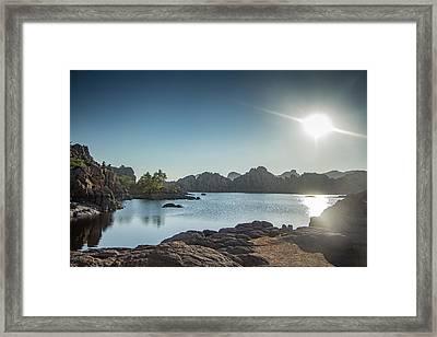 Sunrise At Watson Lake Framed Print by Teresa Wilson