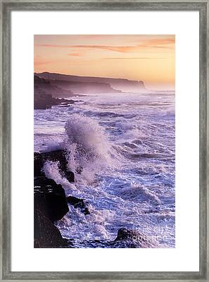 Sunset In The Portuguese Coast Framed Print by Andre Goncalves