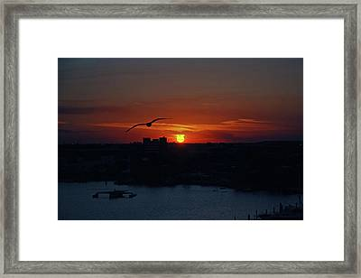 Framed Print featuring the photograph 6- Sunset by Joseph Keane
