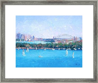 Sydney Harbour And The Opera House By Jan Matson Framed Print