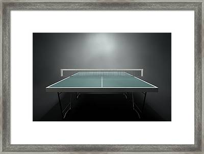 Table Tennis Table Framed Print