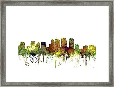Tampa Florida Skyline Framed Print