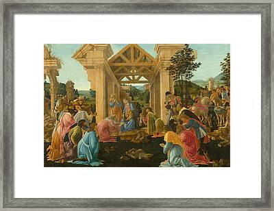 The Adoration Of The Magi Framed Print by Sandro Botticelli