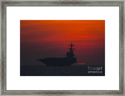 The Aircraft Carrier Framed Print by Celestial Images