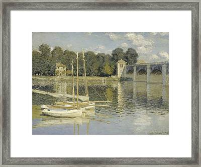 The Argenteuil Bridge Framed Print
