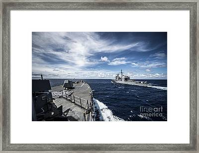 The Arleigh Burke-class Guided-missile Destroyer  Framed Print by Celestial Images