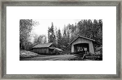 The Cedar Creek Grist Mill In Washington State. Framed Print