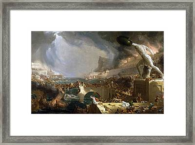 The Course Of Empire The Savage State Framed Print
