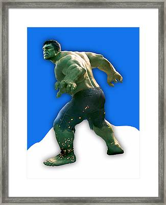 The Incredible Hulk Collection Framed Print by Marvin Blaine