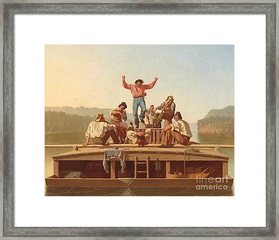 The Jolly Flatboatmen Framed Print