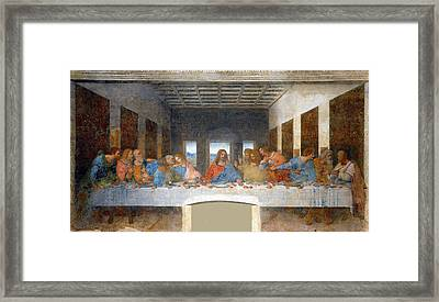 The Last Supper Framed Print by Leonardo da Vinci