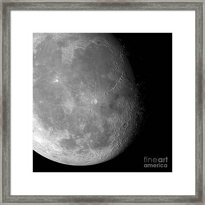 The Moon From Space, Artwork Framed Print