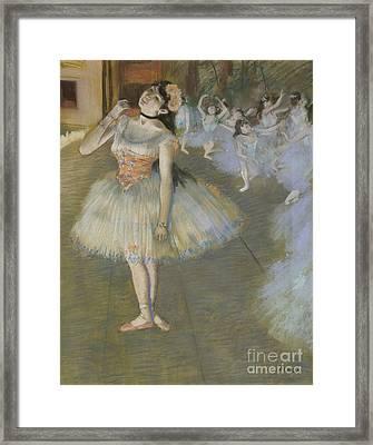 The Star Framed Print by Edgar Degas