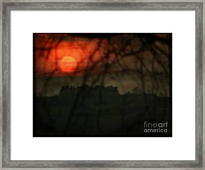 The Sunset Framed Print by Angel Ciesniarska