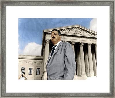 Framed Print featuring the photograph Thurgood Marshall by Granger
