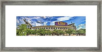 Tiger Stadium - Pano Framed Print