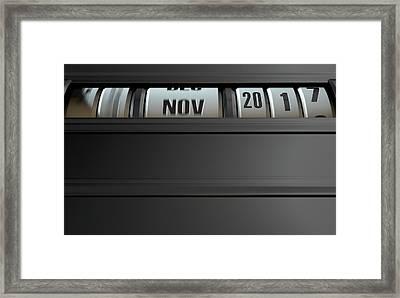Timelapse Odometer Concept Framed Print