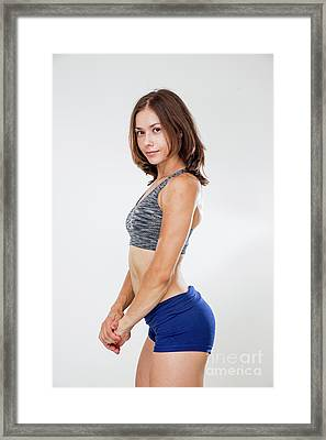 Training Women In Sport Clothing  Framed Print by Sv