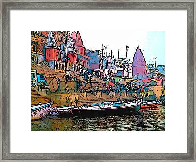 Varanasi Framed Print by Lisa Dunn