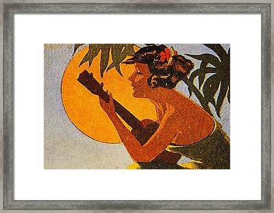 Vintage Hawaiian Art Framed Print