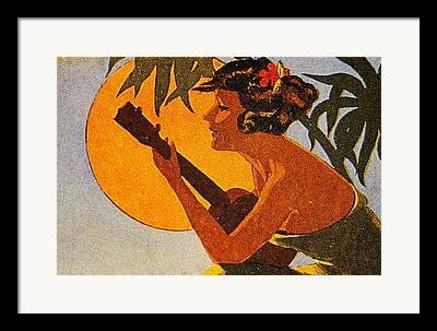 Island Cultural Art Framed Prints