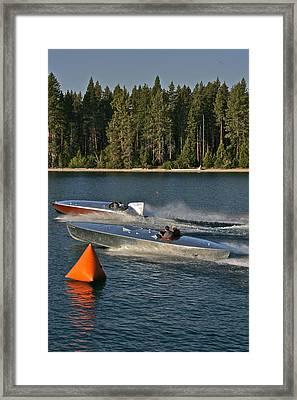 Vintage Racers Framed Print by Steven Lapkin