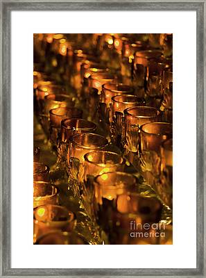 Votive Candles Framed Print