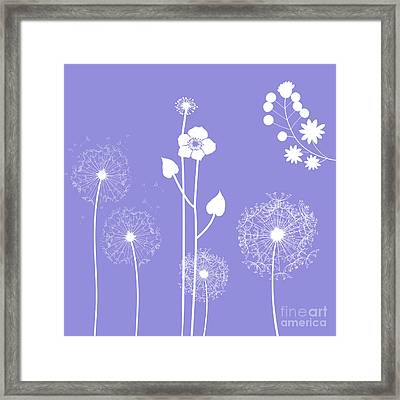 Wild Flowers Framed Print by Celestial Images