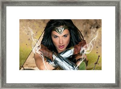 Wonder Woman Art Framed Print by Marvin Blaine