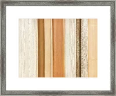Wood Panels  Framed Print by Tom Gowanlock