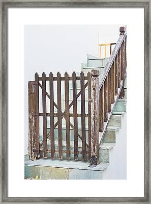 Wooden Gate Framed Print
