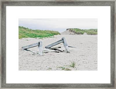 Wooden Planks Framed Print by Tom Gowanlock