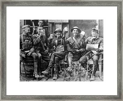 World War I, American Soldiers Framed Print by Everett