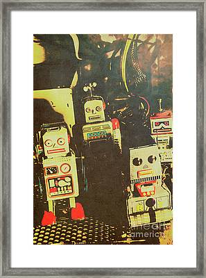 60s Cartoon Character Robots Framed Print