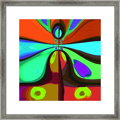 60s Free Love Framed Print