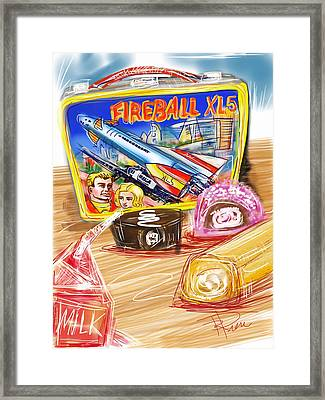 60s Lunch Box Framed Print by Russell Pierce