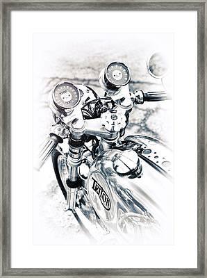 60s Triton Framed Print
