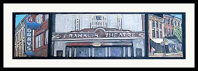 Historic Franklin Tennessee Mixed Media Framed Prints