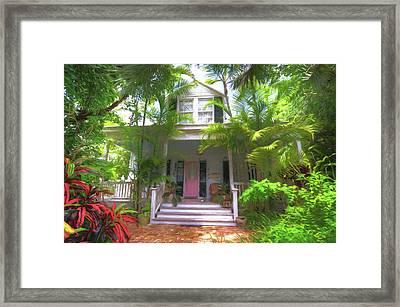 620 Elizabeth Street - Key West Florida Framed Print by John Adams