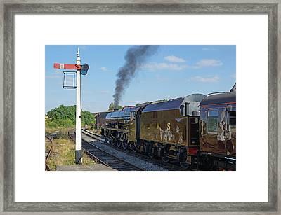 6201 Princess Elizabeth At Swanwick Station Framed Print by David Birchall