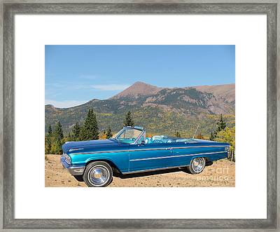 63 Ford Convertible Framed Print