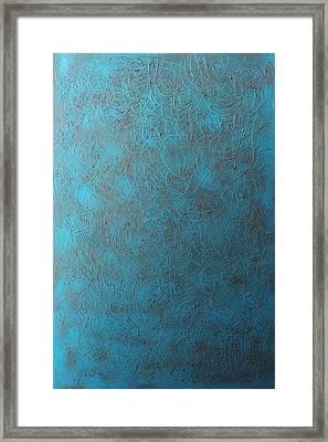 Blue Sky No. 1 Oil On Canvas 24 X 36 Framed Print