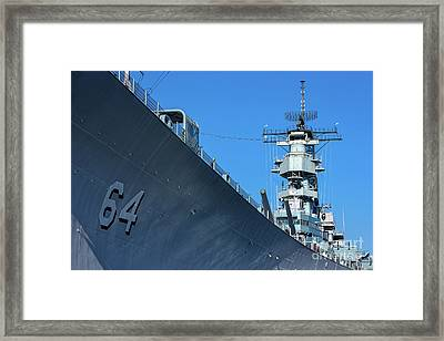 64 Battleship Wisconsin Framed Print by Jerry Fornarotto